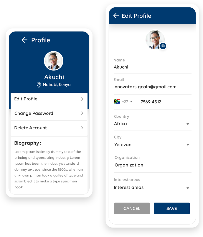 Profile & Edit Profile