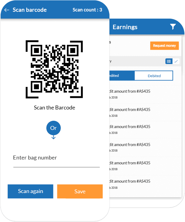 Scan Barcode & Earnings