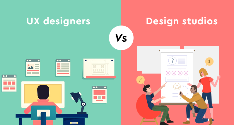 UX designer vs design studio