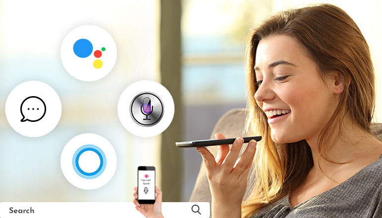 Voice-controlled search